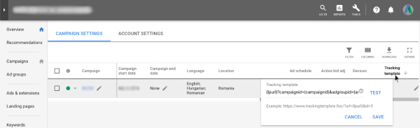 Parametrii Value Track - Google AdWords